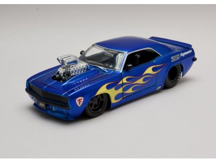 Chevrolet Camaro 1969 modra s plameny 1 24 Jada Toys 30708 01
