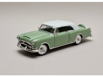 Packard Caribbean 1953 closed Softtop zelena 1 24 Welly 24016 01