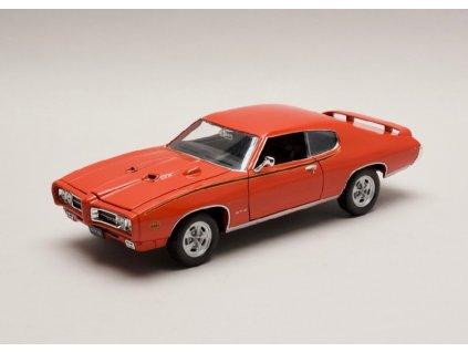 Pontiac GTO 1969 oranzova cervena 1 24 Welly 22501 01