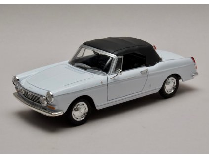 Peugeot 404 Cabriolet 1963 closed Softtop bila 1 24 Welly 22494 01