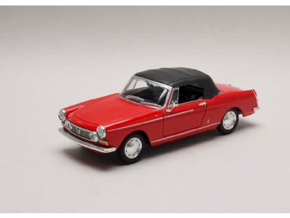 Peugeot 404 Cabriolet 1963 closed Softtop cervena 1 24 Welly 22494Hr 01