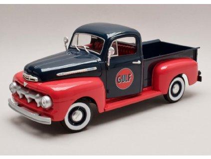 Ford F1 Pick Up 1951 Gulf modro červená 1 18 Greenlight 12978 01