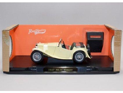 MG TC Midget 1947 + střecha krémová 1 18 Lucky Die Cast 92468cr 01
