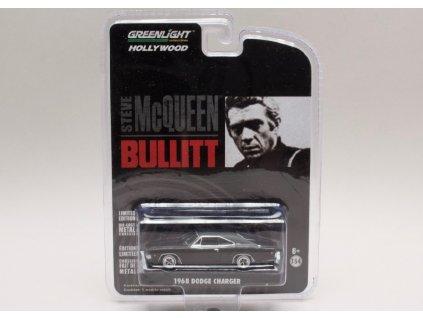 Dodge Charger 1968 Bullitt černá 1 64 Greenlight 44741 01