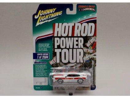 Ford Mustang Cobra II 1978 bílo červená verze A 1 64 Johnny Lichtning 01