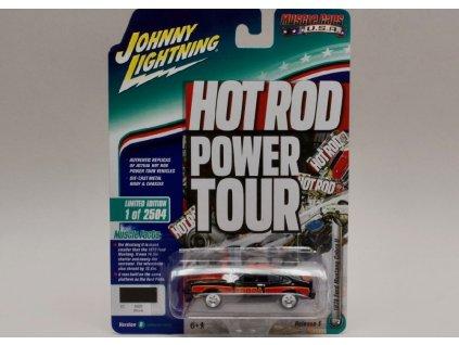 Ford Mustang Cobra II 1978 černo červená verze B 1 64 Johnny Lichtning 01