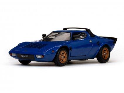 Lancia Stratos Stradale 1975 modrá 1 18 Sun Star 4562 01