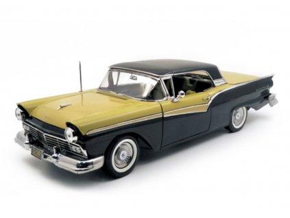Ford Fairlane 500 Skyliner 1957 černo zlatá 1 18 Sun Star 1340 01