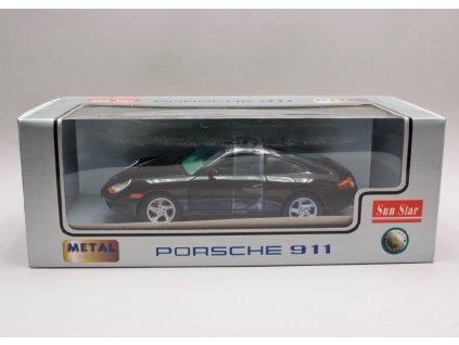 Porsche 996 Carrera Coupe 1998 černá 1 18 Sun Star 1202 01