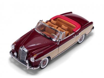 Mercedes Benz 220 SE Open Convertible červeno krémová 1 18 Sun Star 3556 02