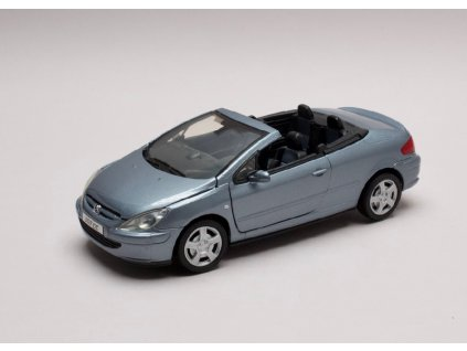 Peugeot 307cc met světle modrá 1 24 Motor Max 73286 01