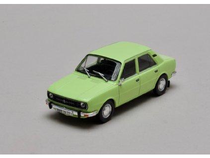 Škoda 105L 1977 úžovka zelená lipová 1 43 Abrex 143ABS 723QJ 01