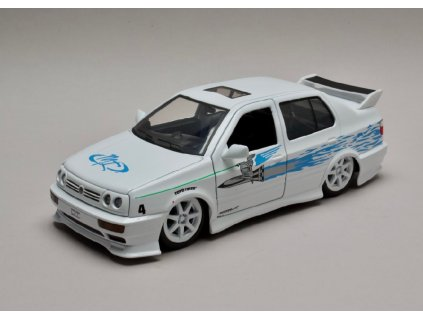 Volkswagen Jetta A3 1995 Jesse`s Rychle a zb. (Fast & Furious) 1 24 Jada Toys 99591 01
