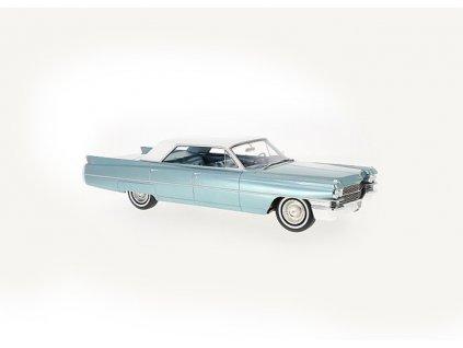 Cadillac Sedan de Ville 1963 tyrkysová bílá střecha 1 18 BoS Models BoS350 01
