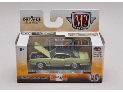 Pontiac GTO 1969 zeleno černá 1 64 M2 Machines 32600 R47 01