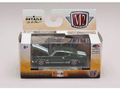 Chevrolet Chevelle SS 454 1970 tm zelená1 64 M2 Machines 32600 R48 01