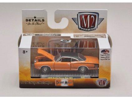 Dodge Super Bee 383 1970 oranžovo černá 1 64 M2 Machines 32600 R48 01