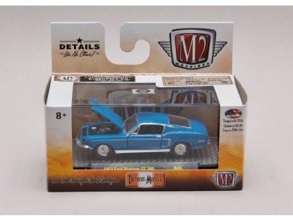 Ford Mustang GT350 1968 modrá 1 64 M2 Machines 32600 R48 01