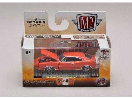 Dodge Charger Daytona HEMI 1969 oranžová 1 64 M2 Machines 32600 R48 01