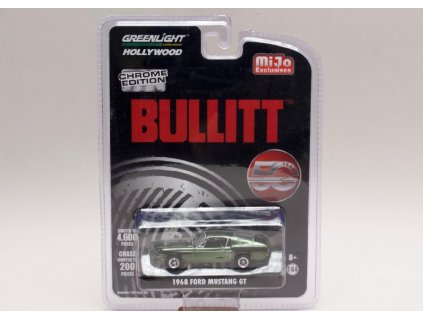 Ford Mustang GT 1968 Bullitt chrom zelená1 64 Greenlight 51226 01