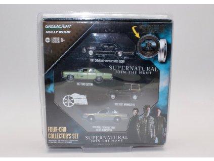 Sada 4 aut z filmu Supernatural Join the Hunt Lovci duchů 1 64 Grenlight 59050 A 01