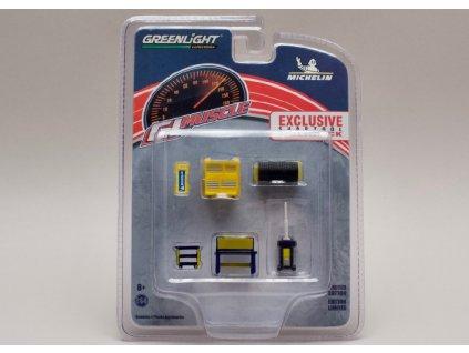 Vybavení dílny Michelin 6 dílů 1 64 Greenlight 13161 01