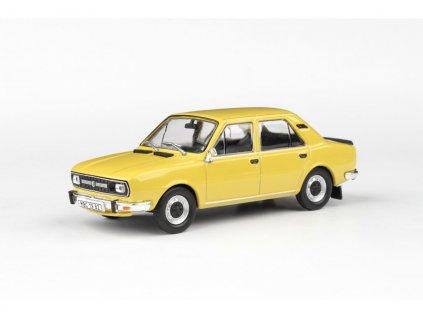 Škoda 120L 1982 úžovka žlutá Kanárková 1 43 Abrex 143ABS 724GY 01