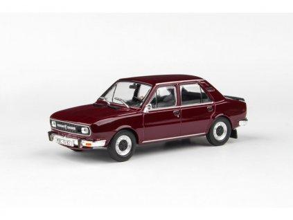 Škoda 120L 1982 úžovka červená Maron 1 43 Abrex 143ABS 724BZ 01