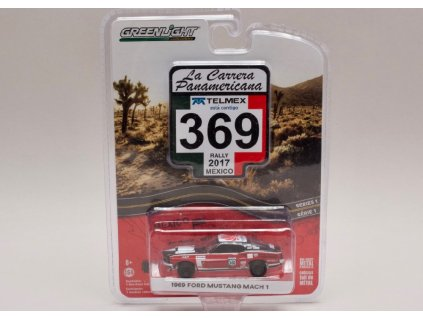 Ford Mustang Mach i 1969 #369 Rally Mexico 2017 1 64 Greenlight 13240 D 01