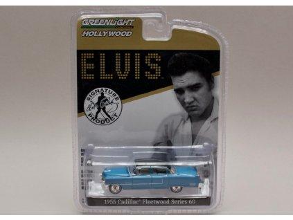 Cadillac Fleetwood Series 60 1955 modrá Elvis 1 64 Greenlight 44760 A 01