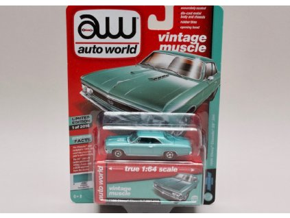 Chevrolet Chevelle SS 396 1966 stříbrná 1 64 Auto World AWSPO12 01