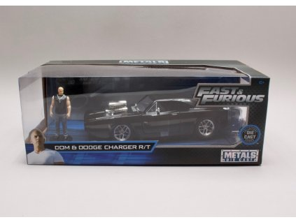 Dodge Charger 1970 + figurka Rychle a zb. (Fast & Furious) 1 24 Jada Toys 30737 01