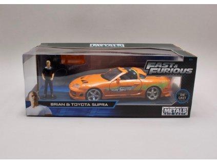 Toyota Sopra 1995 + figurka Rychle a zb. (Fast & Furious) 1 24 Jada Toys 30738 01