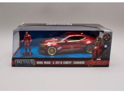 Chevrolet Camaro 2016 + figurka Avengers %22Iron Man%22 1 24 Jada Toys 99724 01