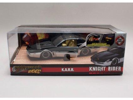 Pontiac Firebird 1982 %22Knight Rider%22 + blikající scaner 1 24 Jada Toys 31115 01