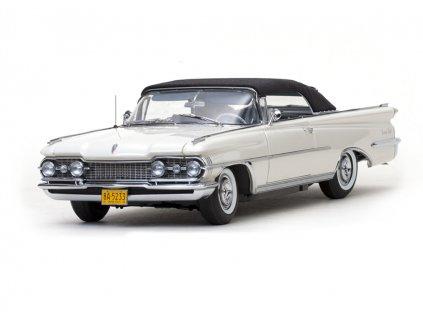 Oldsmobile 98 1959 closed Convertible bílá černá střecha 1 18 Sun Star Platinum 5233 01