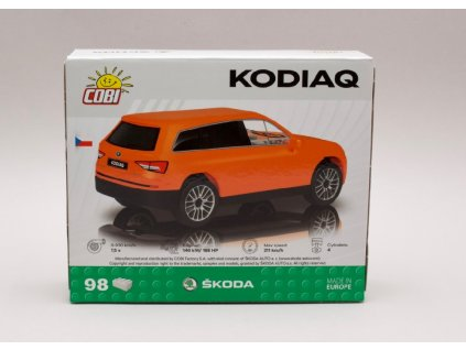 Škoda Kodiaq oranžová stavebnice 98 kostek 1 35 COBI Factory SA 01
