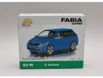 Škoda Fabia Combi modrá stavebnice 82 kostek 1 35 COBI Factory SA 01