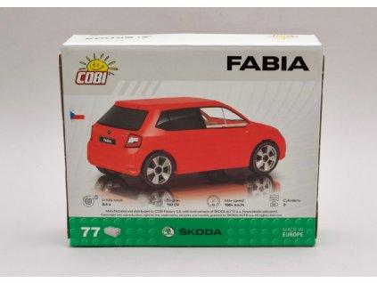 Škoda Fabia červená stavebnice 77 kostek 1 35 COBI Factory SA 01