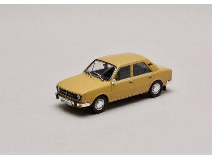Škoda 105L 1977 úžovka zlatohnědá 1 43 Abrex 143ABS 723GX 01
