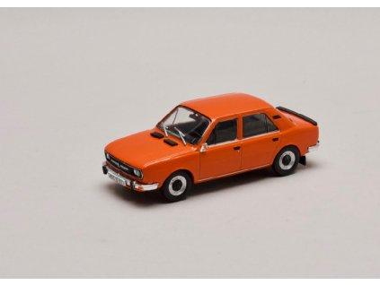 Škoda 120L 1982 úžovka oranžová Brilantní 1 43 Abrex 143ABS 724GS 01