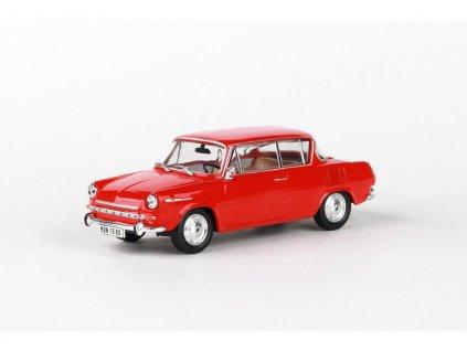 Škoda 1100MBX 1969 červená Oranžová 1 43 Abrex 143ABS 721BG 01