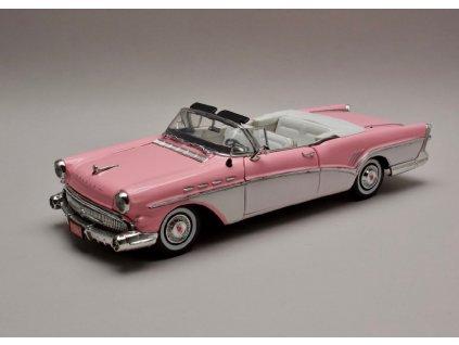 Buick Roadmaster 1957 růžovo bílá 1 18 Motor Max 73152 01