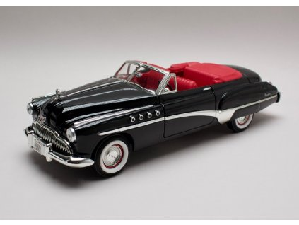 Buick Roadmaster 1949 černá červený interier 1 18 Motor Max 73116 01