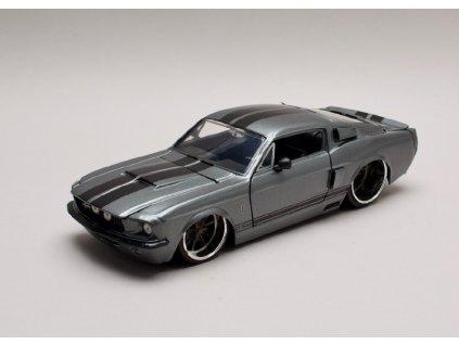 Ford Mustang Shelby GT500 1967 šedá met černé pruhy 1 24 Jada Toys 31452 01