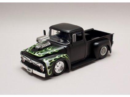 Ford F 100 Pick Up černá mat +plameny 1 24 Jada Toys 30716 01