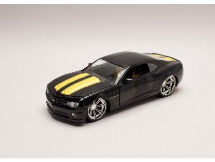 Chevrolet Camaro 2010 černá žluté pruhy 1 24 Jada Toys 30762 01