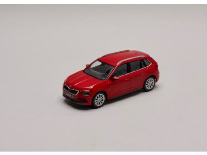 Škoda Kamiq červená Velvet 1 43 i scale 658099300F3P 01