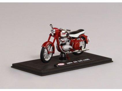Jawa 500 OHC 1956 tmavě červená (sedlo černo bílé) 1 18 Abrex 100118M 012 01