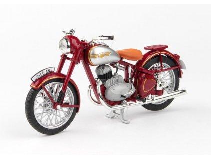 Jawa 250 Pérák Standart 1948 tmavě červená 1 18 Abrex 100118M 006 1 01